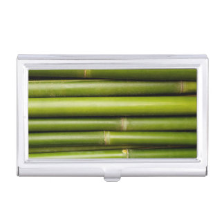 Green Tropical Bamboo Plant Botanical Business Card Holder