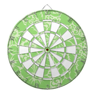 Green tropical floral dartboard