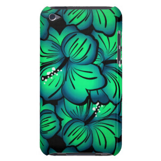 Green Tropical Hibiscus Flower design Barely There iPod Cover