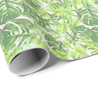 Green Tropical Leaf by Redux121DesignStudio Wrapping Paper