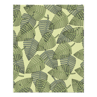 Green Tropical Leaves Pattern. Flyer