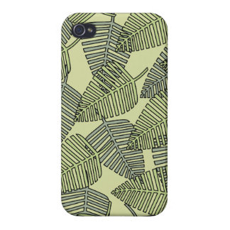 Green Tropical Leaves Pattern iPhone 4/4S Case