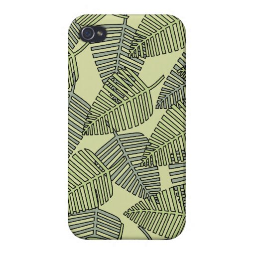 Green Tropical Leaves Pattern. iPhone 4/4S Case