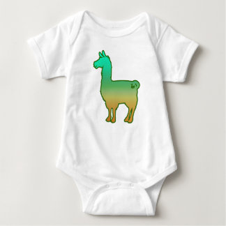 Green Tropical Llama Baby Bodysuit