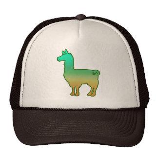 Green Tropical Llama Cap