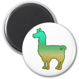 Green Tropical Llama Magnet