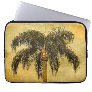Green Tropical Palm Tree Hawaiian Vintage Palms Laptop Sleeve