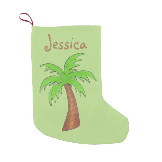 Green Tropical Palm Tree Personalized Stocking