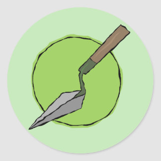 Green Trowel Sticker - Archaeologist's Tool Kit