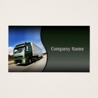 Green Truck On The Road Card