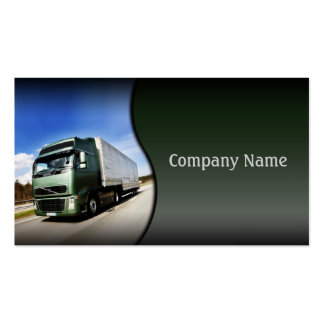 Green Truck On The Road Card Business Cards