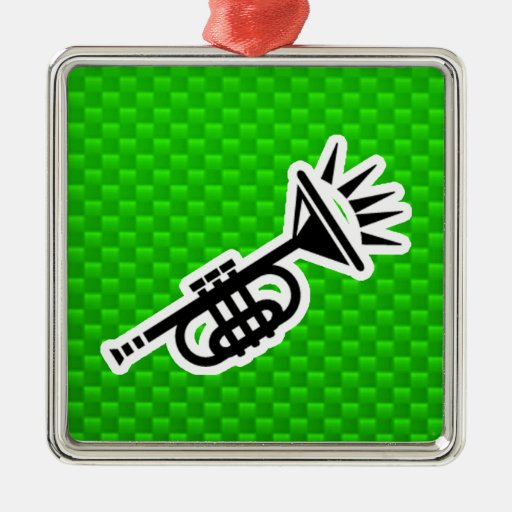 Green Trumpet Ornament