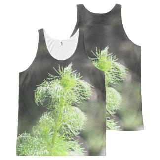Green Tuft All-Over Print Tank Top