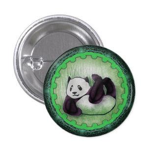 Green Tumbling Panda Pal 3 Cm Round Badge