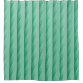 Green Turquoise Gradating Stripes Shower Curtain