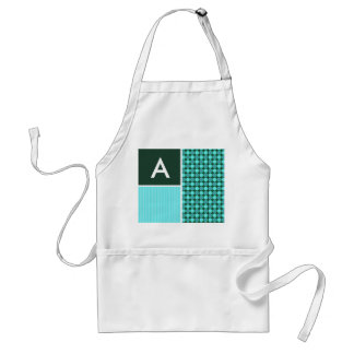 Green & Turquoise Polka Dots Adult Apron