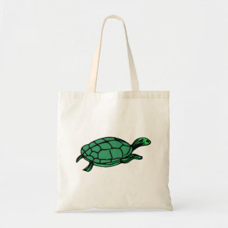 Green Turtle Tote Bags