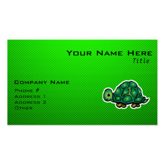 Green Turtle Double-Sided Standard Business Cards (Pack Of 100)