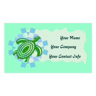 Green Turtle Business Card Template