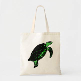 Green Turtle Canvas Bag