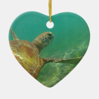 Green-turtle-Great-Barrier-Reef.JPG Ceramic Heart Decoration