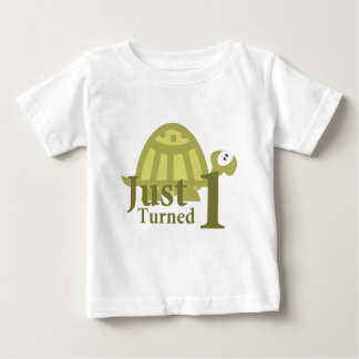 Green Turtle: Just Turned One Tees