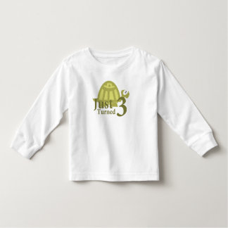 Green Turtle: Just Turned Three Toddler T-Shirt