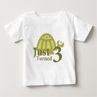 Green Turtle: Just Turned Three T Shirt
