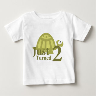 Green Turtle: Just Turned Two Baby T-Shirt
