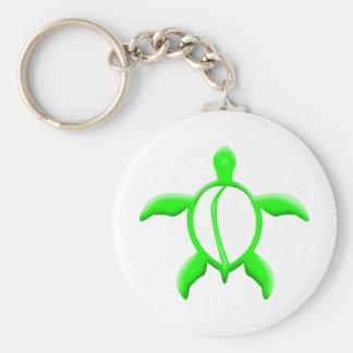 green turtle key ring