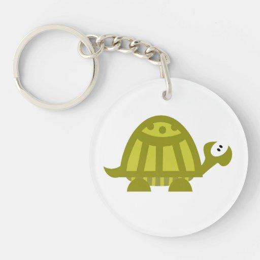 Green Turtle Acrylic Key Chains