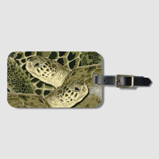 Green Turtle Luggage Tag