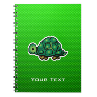 Green Turtle Spiral Note Book
