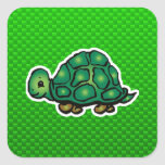 Green Turtle Square Stickers
