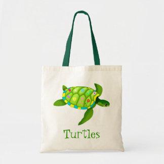 Green Turtle tote bag