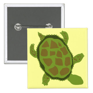 Green Turtle Tshirts and Gifts 15 Cm Square Badge