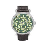 green turtles hour wristwatch