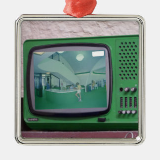 Green TV Christmas Ornament