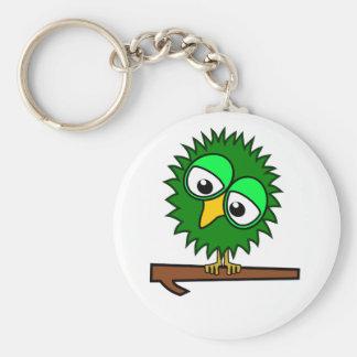 Green Tweet Basic Round Button Key Ring