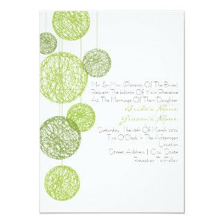 Green Twine Globes Wedding Invitation