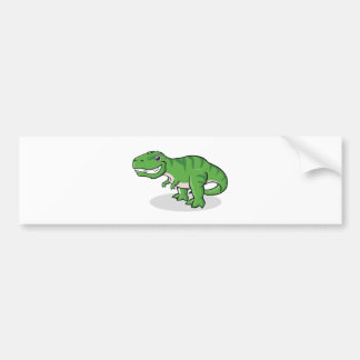 Green Tyrannosaurus Rex T-Rex Dinosaur Bumper Sticker