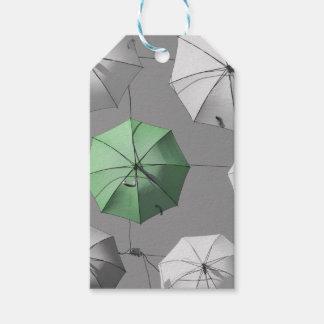Green Umbrella Gift Tag