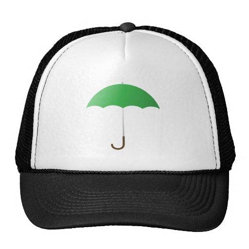 Green Umbrella Mesh Hats