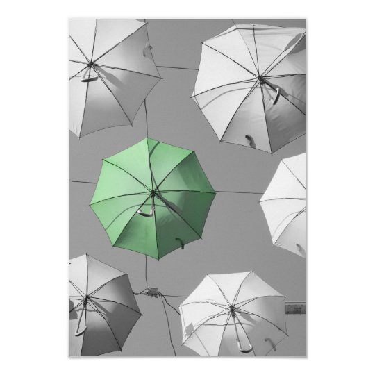 Green Umbrella Invitation