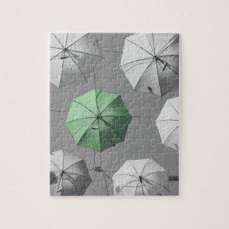 Green Umbrella Jigsaw/Puzzle Jigsaw Puzzle