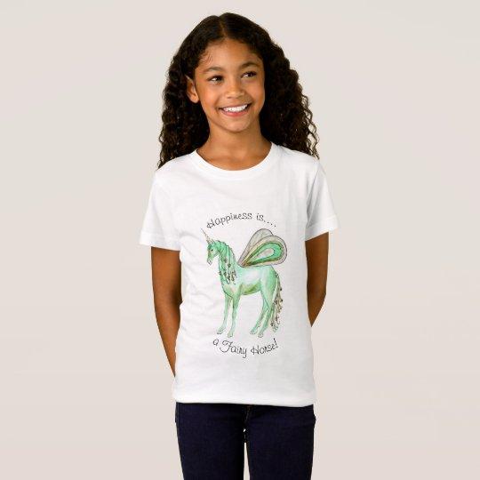 Green unicorn fairy horse T-Shirt