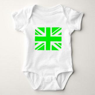 Green Union Jack design Baby Bodysuit