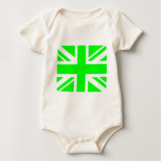 Green Union Jack design Baby Bodysuit