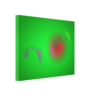 Green Universe and a Red sun Gallery Wrap Canvas
