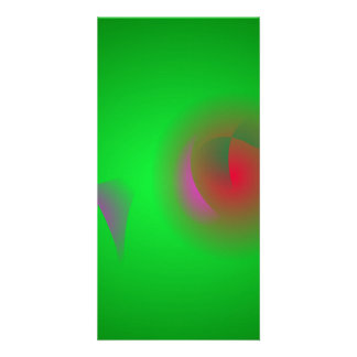 Green Universe and a Red sun Photo Greeting Card